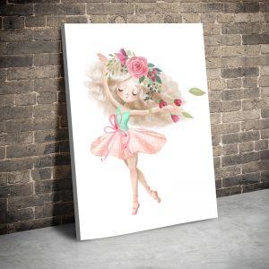 CVS744 Fetita balerina cu coronita roz 1