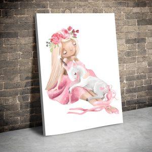 CVS745 Fetita balerina cu unicorn alb 1