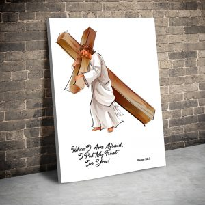 CVS760 Tablou canvas religios Iisus purtand povara lumii 3