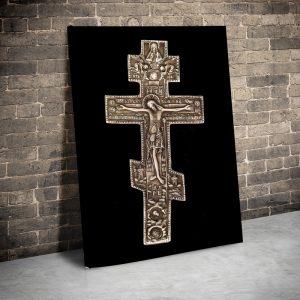 CVS762 Tablou canvas religios Crucifix 3