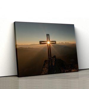 CVS764 Tablou canvas religios Cruce in asfintit