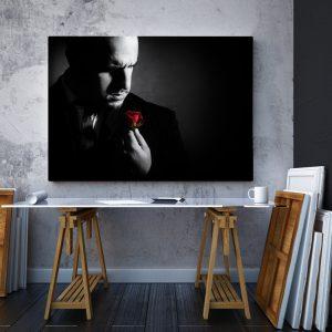 CVS767 Tablou Canvas Don Corleone trandafir rosu 2