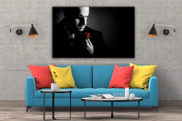 CVS767 Tablou Canvas Don Corleone trandafir rosu 3