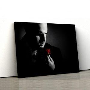CVS767 Tablou Canvas Don Corleone trandafir rosu