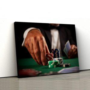 CVS768 Tablou Canvas Jetoane de poker 1