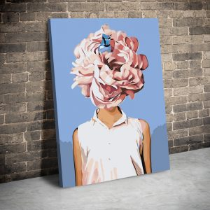 CVS777 Tablou canvas Pink and white flowerhair