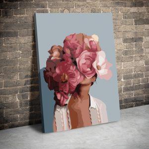 CVS780 Tablou canvas Abstract pink flowerhair