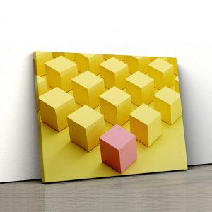 CVS793 Tablou canvas abstract Cuburi1