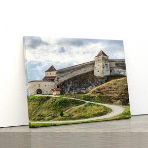 CVS806 Tablou Canvas Peisaj Medieval fortress Rasnov Transilvania 1