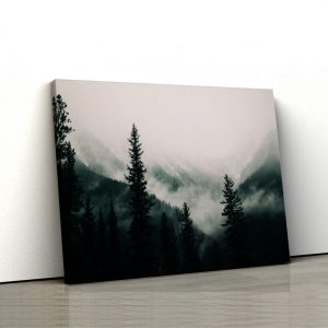 CVS815 Tablou Canvas Peisaj Forest covered with fog 1