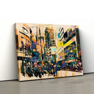 CVS817 Tablou canvas abstract Oras amestecat 1