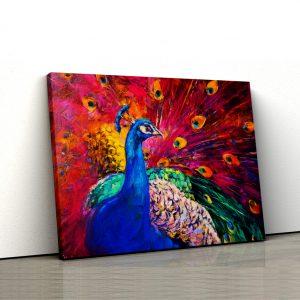Tablou Canvas Pictura Paun
