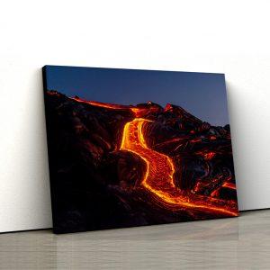 Tablou canvas Rau de lava 1
