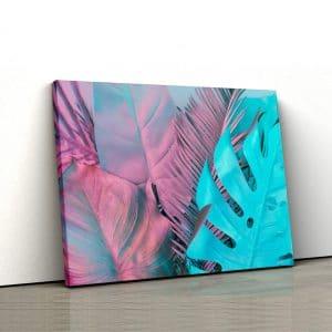 Tablou canvas abstract Frunze tropicale 1
