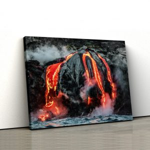 Tablou canvas abstract Lava curgand 1