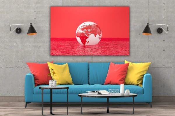 Tablou canvas abstract Luna rosie 3