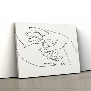 Tablou canvas abstract Maini impreunate 1