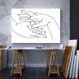 Tablou canvas abstract Maini impreunate 2