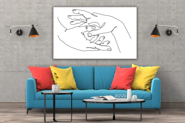 Tablou canvas abstract Maini impreunate 3