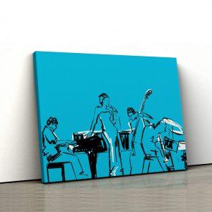 Tablou canvas abstract Muzicieni 1