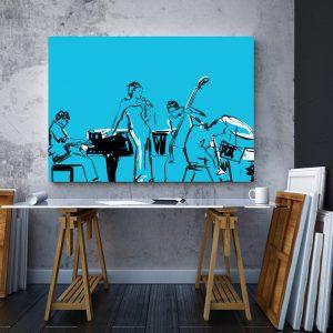 Tablou canvas abstract Muzicieni 2