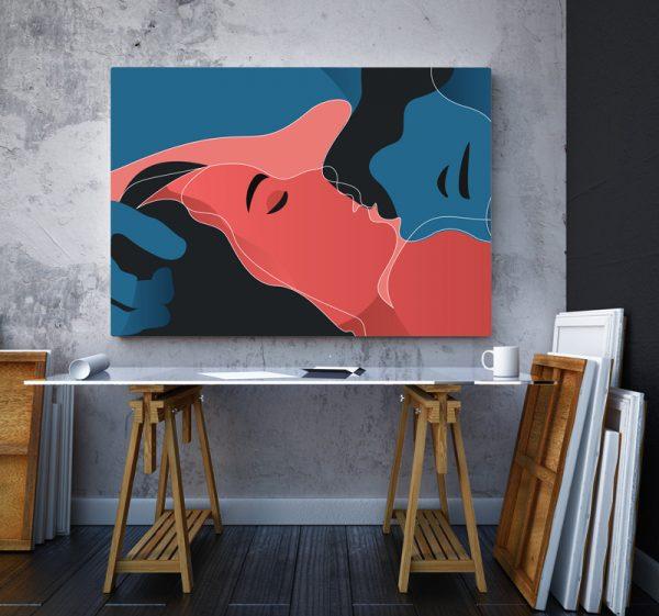 Tablou canvas abstract Sarut 2