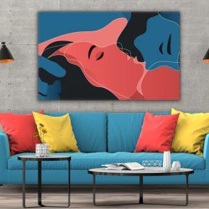 Tablou canvas abstract Sarut 3