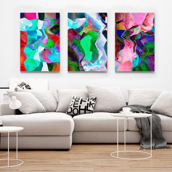 Tablou multi canvas Fuziune de culori 1