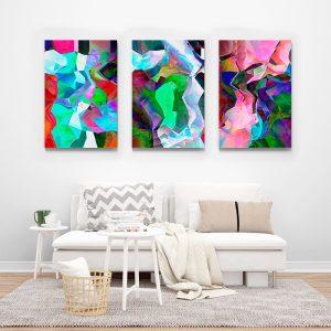 Tablou multi canvas Fuziune de culori 2