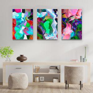 Tablou multi canvas Fuziune de culori 3