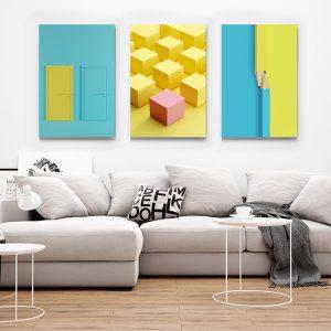Tablou multi canvas Obiecte abstracte 1