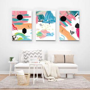 Tablou multi canvas Picturi abstracte 2