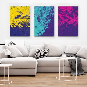 Tablou multi canvas Trei culori 1