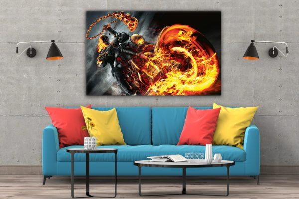 Tablou Canvas moto Ghostrider 3